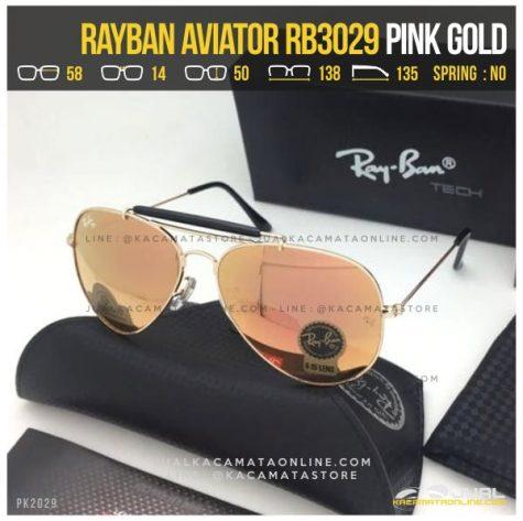 Model Kacamata Rayban Pilot RB3029 Pink Gold