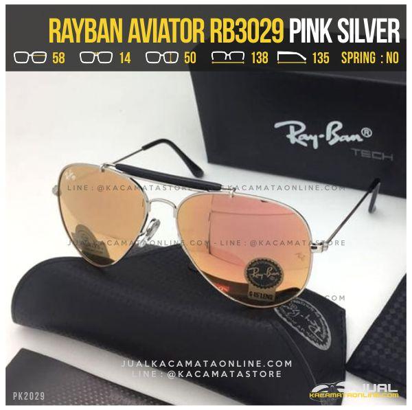 Gambar Kacamata Rayban Pilot RB3029 Pink Silver