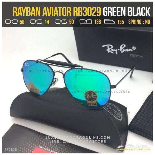 Jual Kacamata Rayban Pilot RB3029 Green Black
