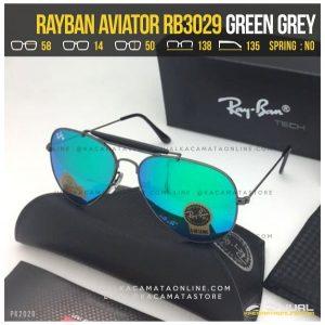 Kacamata Rayban Pilot RB3029 Green Grey