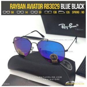 Kacamata Rayban Pilot RB3029 Blue Black