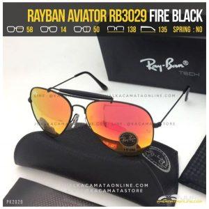 Kacamata Rayban Pilot RB3029 Fire Black