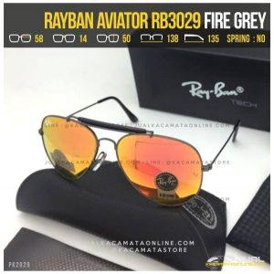 Kacamata Rayban Pilot RB3029 Fire Grey