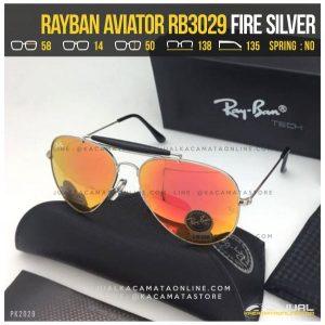 Kacamata Rayban Pilot RB3029 Fire Silver