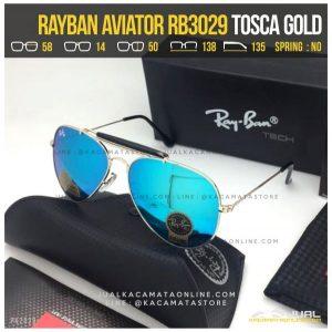 Kacamata Rayban Pilot RB3029 Tosca Gold