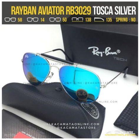 Kacamata Rayban Pilot RB3029 Tosca Silver