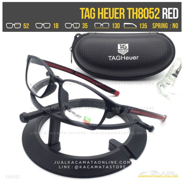 Frame Kacamata Minus Terbaru Tag Heuer TH8052 Red