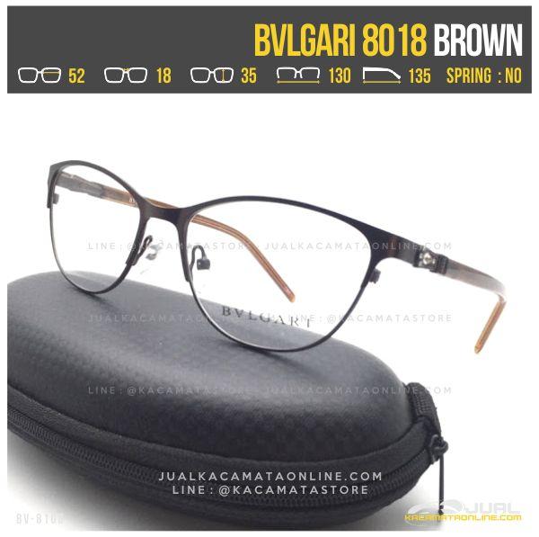 Trend Kacamata Minus Wanita Bvlgari 8018 Brown