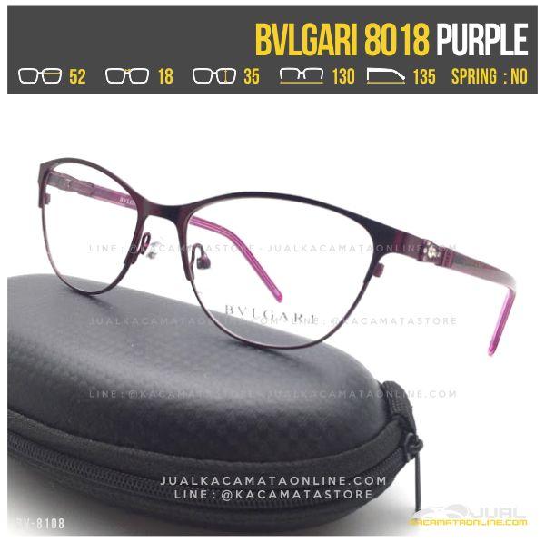 Model Kacamata Minus Wanita Bvlgari 8018 Purple