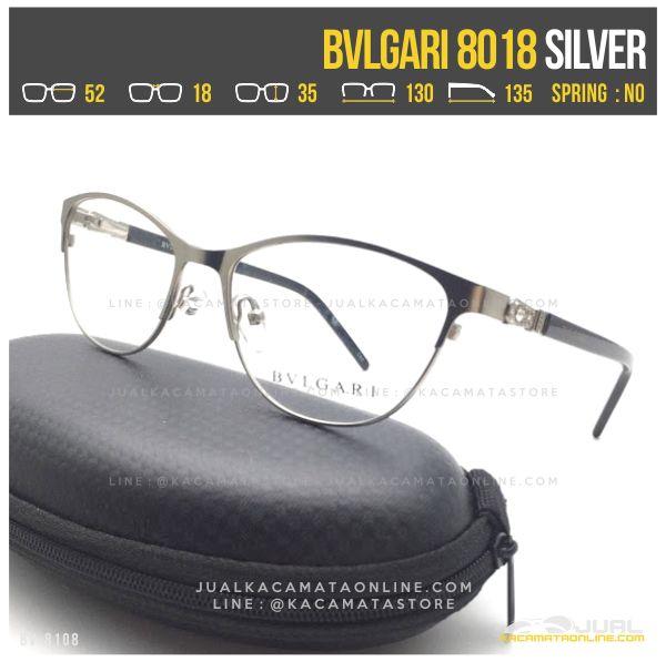 Jual Kacamata Minus Wanita Bvlgari 8018 Silver