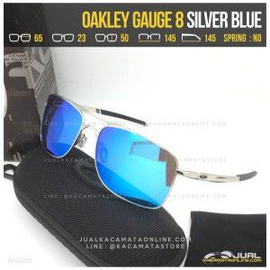 Model Kacamata Pria Terbaru Oakley Gauge 8 Silver Blue